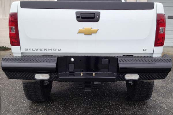 fab fours black steel rear bumper installed 2