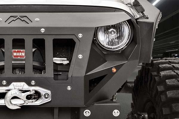 fab fours grumper jeep front bumper detail 2