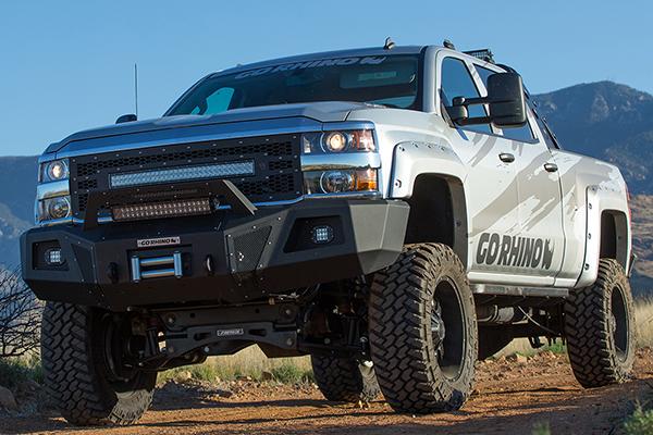 go rhino br10 front bumper silverado trail lifestyle