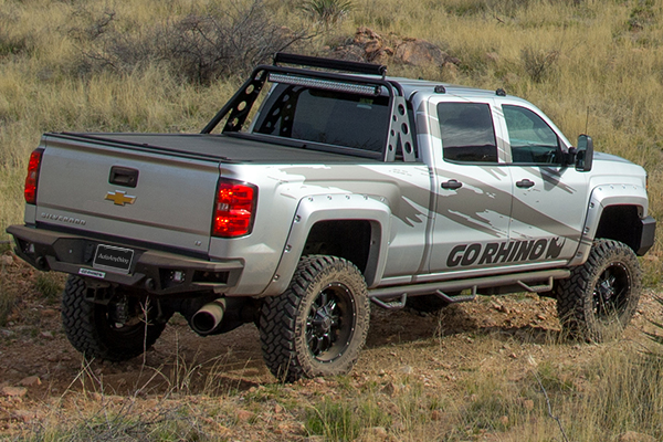 go rhino br20 rear bumper silverado lifestyle