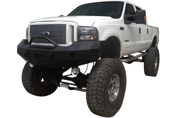 iron cross front bumper ford f250