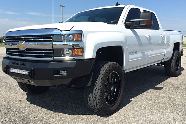 iron cross hd low profile front bumper silverado lifestyle
