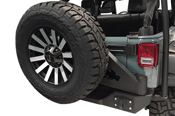 iron cross jeep rear bumpers installed