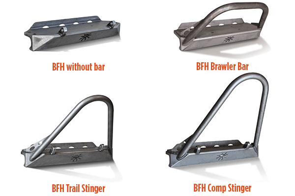 poison spyder bfh front bumpers styles