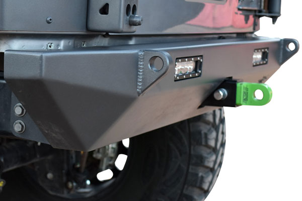 poison spyder bfh rear bumpers installed