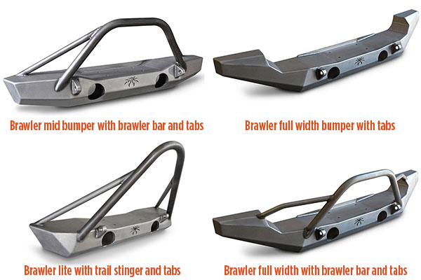 poison spyder rockbrawler front bumpers styles