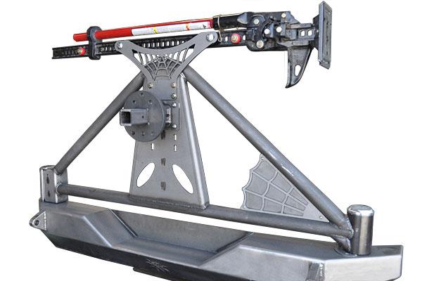 poison spyder rockbrawler hi lift jack mount installed