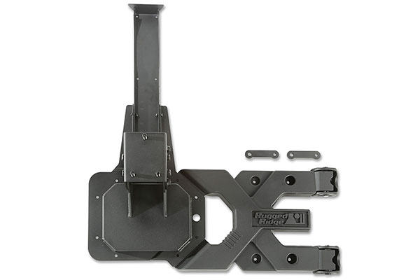 rugged ridge spartacus hd tire carrier off vehicle