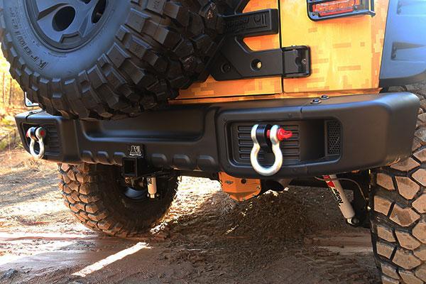 rugged ridge spartacus rear bumper detail