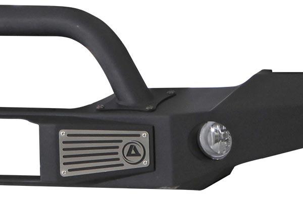 smittybilt atlas front bumper light detail