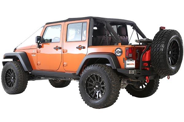 smittybilt atlas rear bumper jeep installed