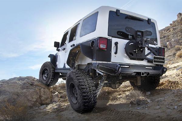 smittybilt gen2 bumper tire carrier wrangler lifestyle