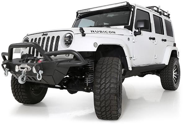 smittybilt gen2 src front bumper jeep installed