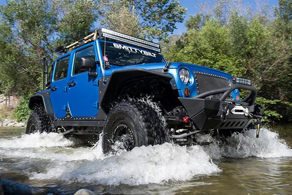 smittybilt gen2 xrc front bumper on jeep in water