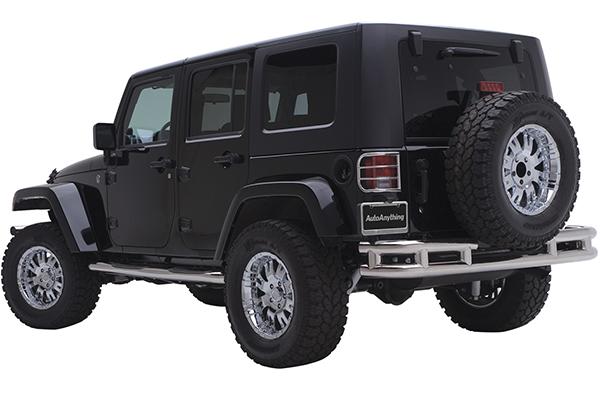smittybilt tubular rear bumper jeep installed