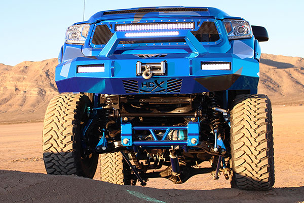 westin hdx front bumper installed blue lifestyle