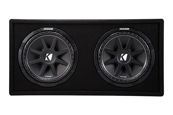 kicker comp loaded enclosures front