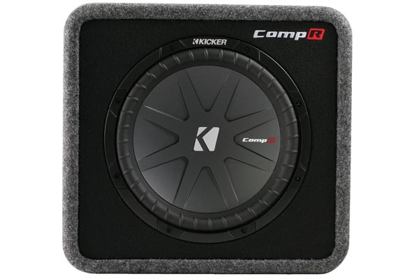 kicker comp r loaded enclosures front