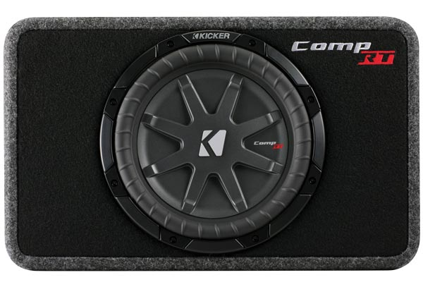 kicker comp rt loaded enclosures front