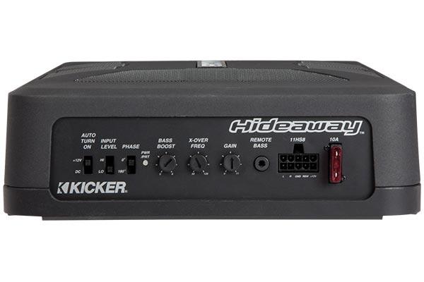 kicker hideaway powered subwoofer enclosure back controls