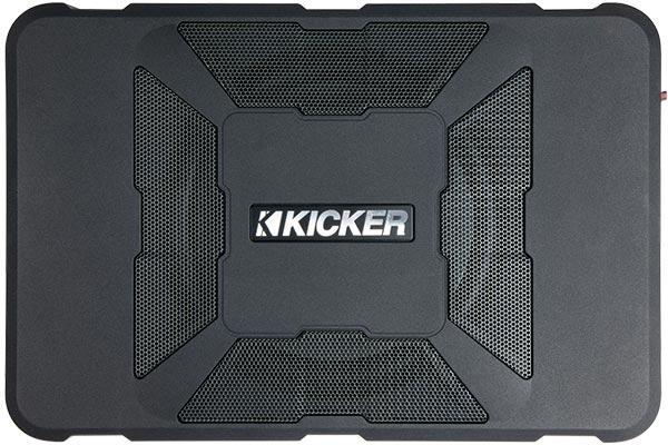 kicker hideaway powered subwoofer enclosure top