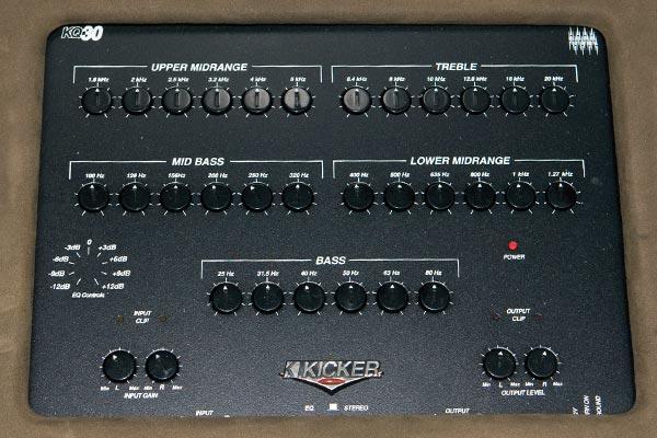 kicker kq30 30 band equalizer installed