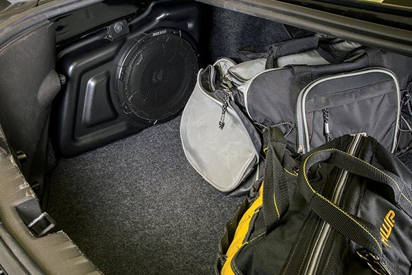 kicker vss powerstage subwoofer upgrade system trunk loaded