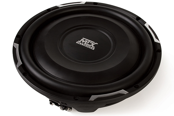 mtx flat piston shallow mount subwoofer front side