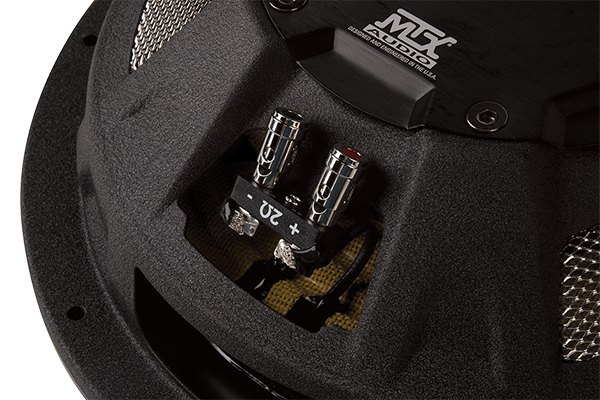 mtx flat piston shallow mount subwoofer terminal