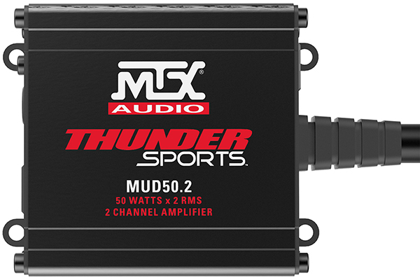 mtx power sports amplifier front