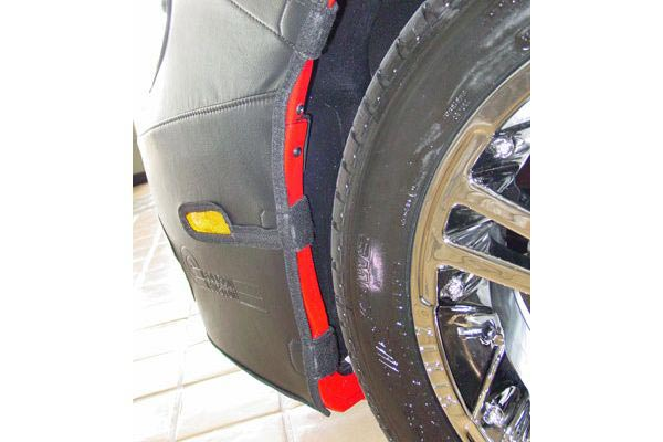colgan car bras padded wheel well straps