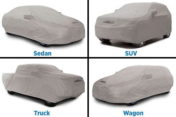 grid of different vehicle covers