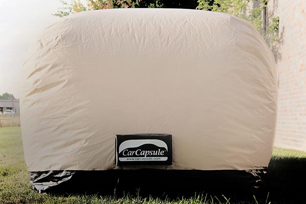 carcapsule outdoor vehicle storage system front