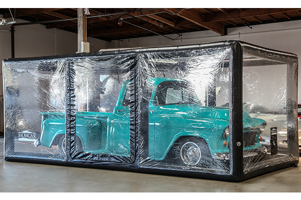 carcapsule showcase indoor vehicle storage system chevy truck