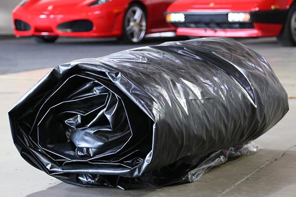 carcapsule showcase indoor vehicle storage system folded