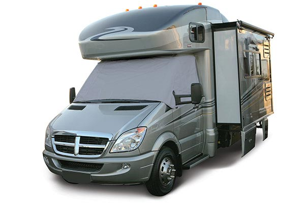 classic accessories rv windshield cover grey