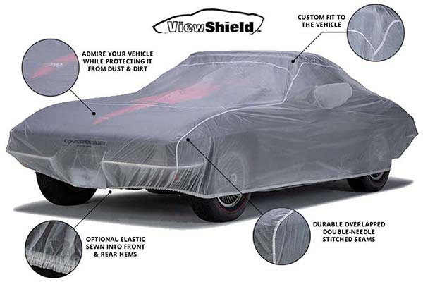 covercraft viewshield custom car cover chart