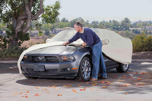 Man Installing Car Cover