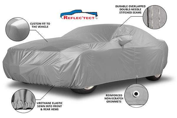 covercraft reflectect car cover features