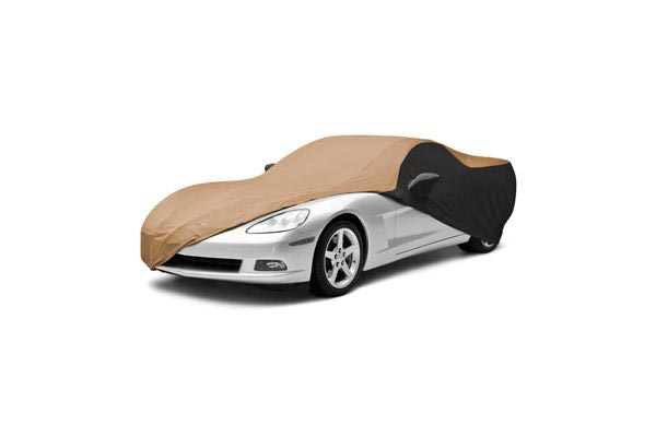 coverking satin stretch car cover car tan