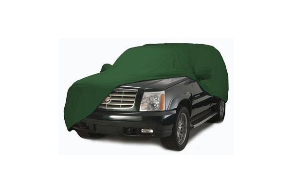 coverking satin stretch car cover suv green