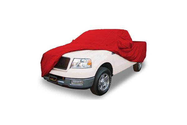 coverking satin stretch car cover truck red