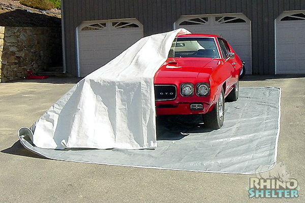 gto partially covered with rhino shelter