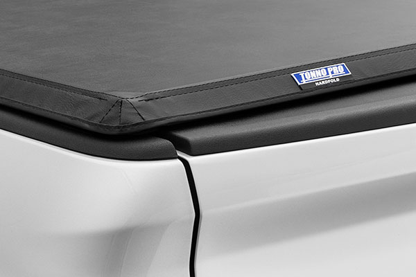 tonnopro hardfold trifold tonneau cover logo detail