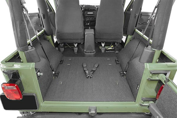 BedTred Jeep Cargo Liner from Rear