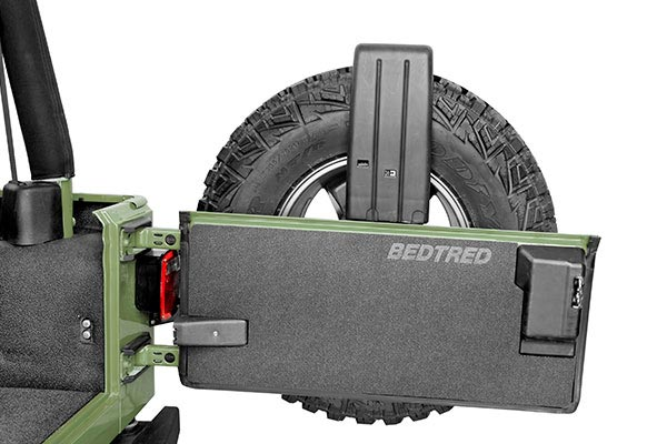 f1a54823a2 BedTred's non-skid surface provides excellent grip; BedTred Jeep Tailgate