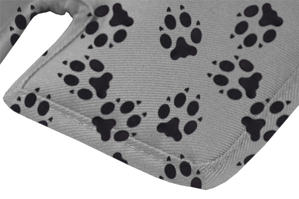 canine covers crypton paw print cargo liner dog bed material closeup