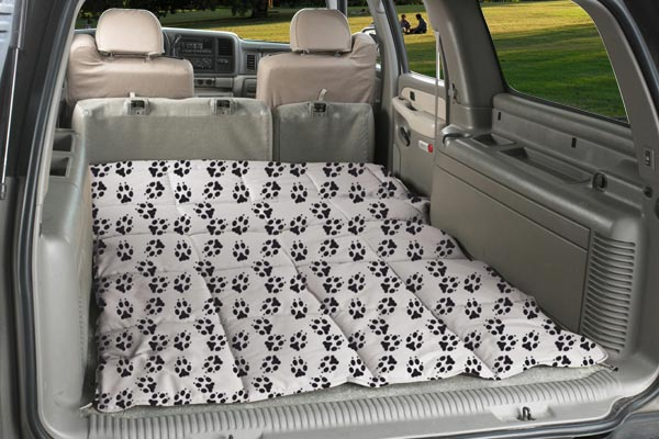 canine covers crypton paw print cargo liner dog bed seat down