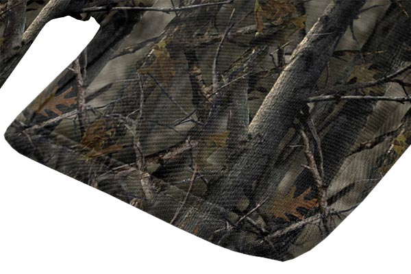 canine covers true timber camo cargo liner dog bed material closeup