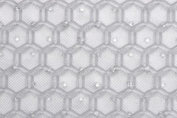 intro tech automotive clear hexomat cargo liners pattern detail